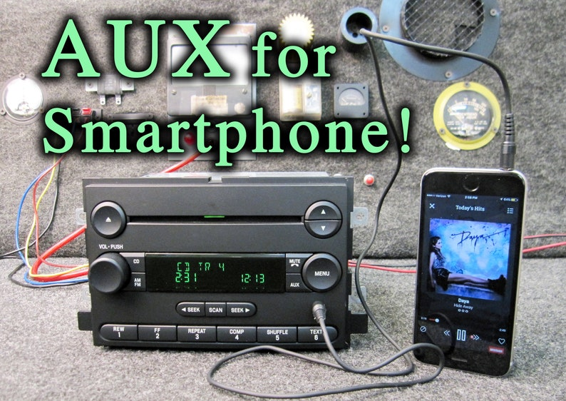 AUXILIARY! FORD F150 CD disc player radio stereo w/cable! Freestyle Fusion  MP3 Aux for smartphone Ipod 04 2004 05 2005 06 2006 5L3T-18C869