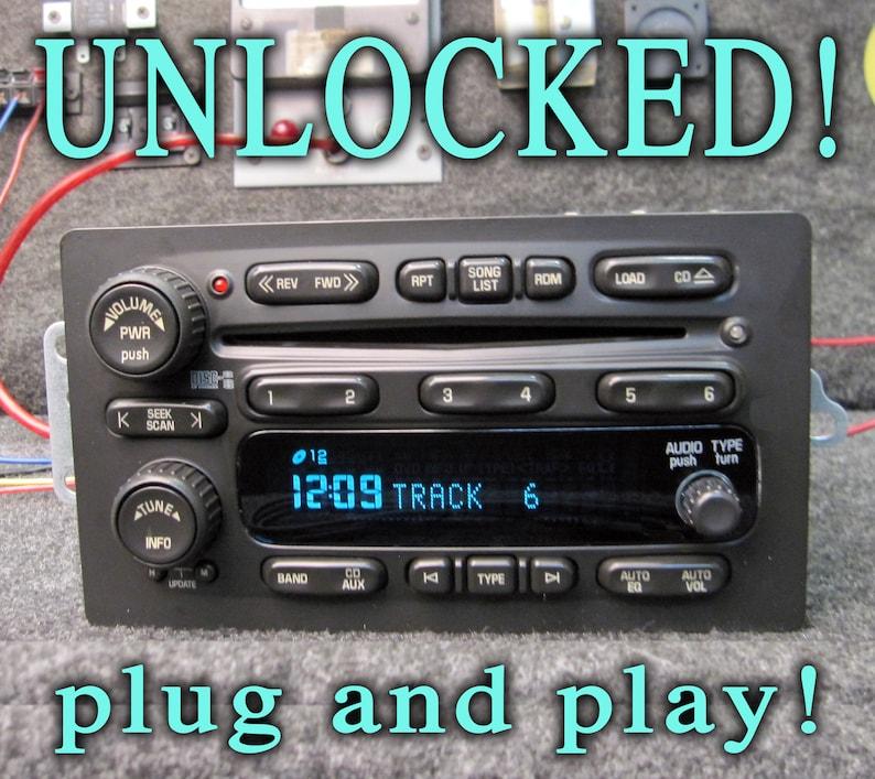 UNLOCKED GM Chevy 6 Cd Disc Changer Stereo SAT Radio 2003