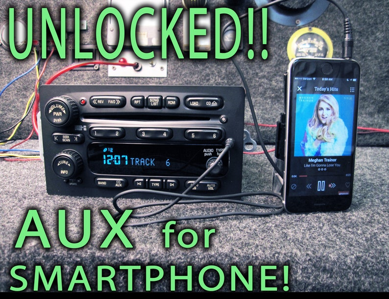 Unlocked GM Chevy 6 Cd Disc Changer MP3 Auxiliary AUX Stereo