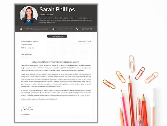 CV/Resume Template | Clean & Modern Design | Cover Letter | Multipurpose |  A4 and US Letter Size | Instant Download
