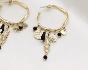 """Plume"" earrings"