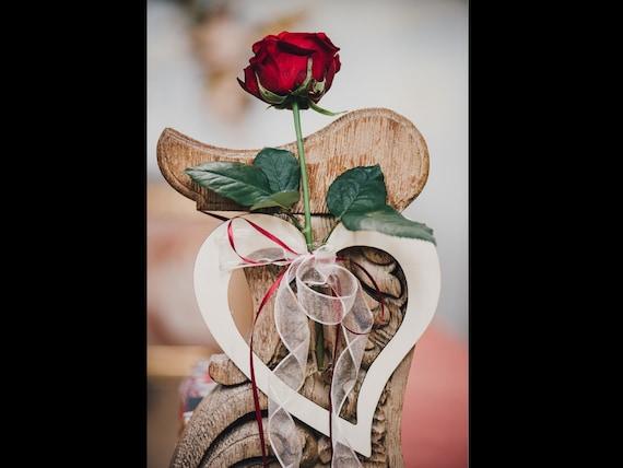 Kirchenschmuck Herz Holz Hochzeit Blumenvase Etsy