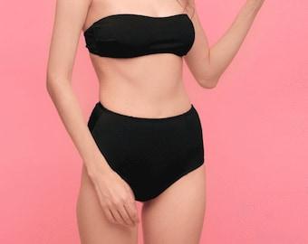 79ec06244076a Lina black high waisted bikini bottom