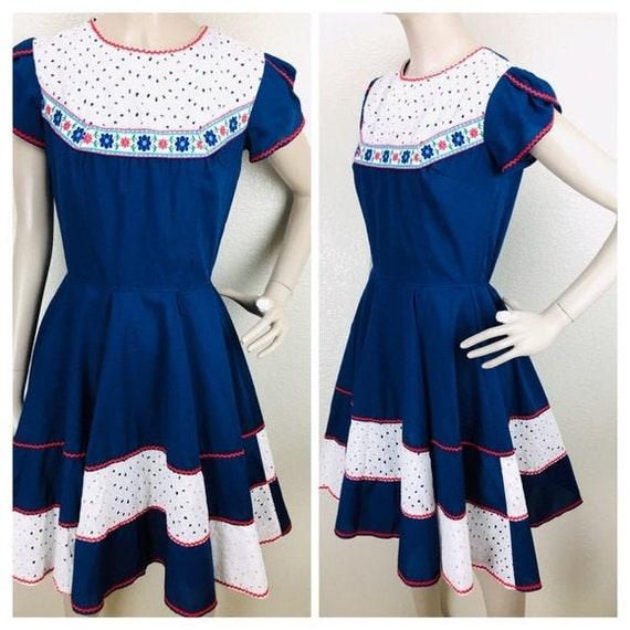 Vintage Kate Schorer Rockabilly Square Dance Dress