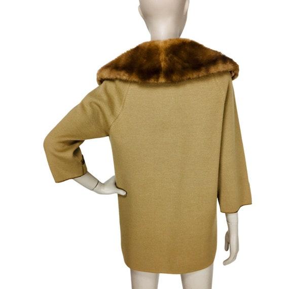 Vintage 1960's Coltalia Imports Brown Mink Collar… - image 5