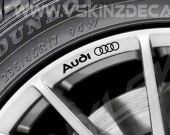 Audi Quattro Logo Premium Cast Wheel Decals Kit Stickers TT RS S-line TFSI TDI
