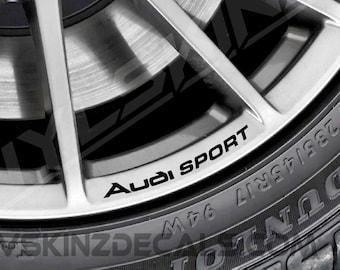 Audi Quattro Logo Premium Cast Wheel Rim Decals Stickers Tt Rs Etsy