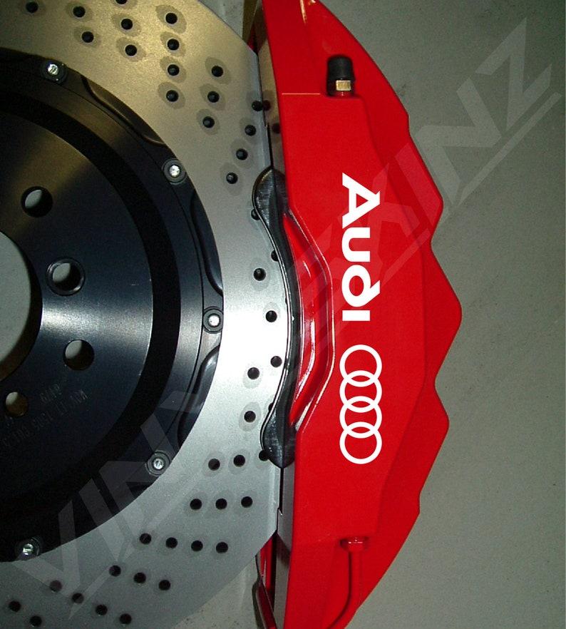 Audi Logo Ringe Premium Cast Bremse Schieblehre Aufkleber Aufkleber Tt Rs A3 A4 A5 A6 A8 F3 F5 Tfsi S Linie Quattro S3 S4 S5 S6 S7 S8 Rs3 Rs4 Rs5 Rs6
