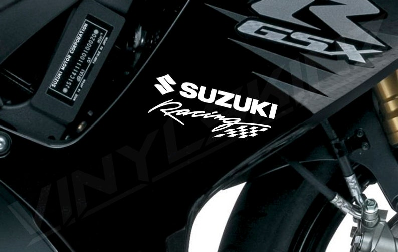 2x Suzuki Logo Premium Cast Fairing Decals Stickers GSXR 1000 750 600 RR GSXS