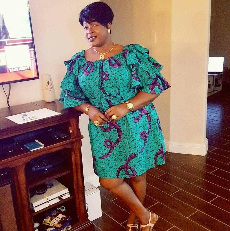 Afrikanische Frauen Kleid Afrikanischen Stoff Ankara Kleid Etsy