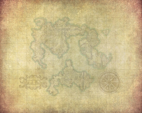Final Fantasy Vi World Map World Of Balance Etsy
