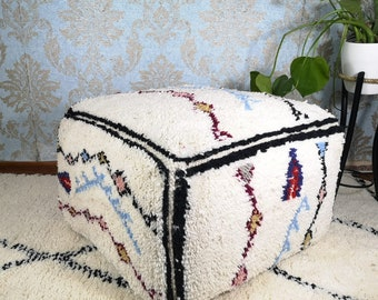 with insert floor pillows large Moroccan floor pouf pillows Beni Ourain pouf  lilim pouf