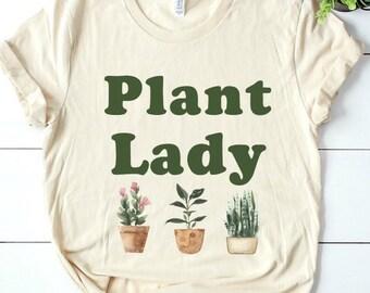 09e00dac Plant Lady T shirt, Plant lady gift, plant t shirt, plant lover t shirt, plant  lover gift, nature t shirt, botanical t shirt, botany shirt
