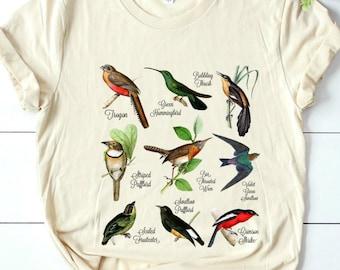 Vintage Bird Nature Birding Watcher Watching Ornithology Langarmshirt