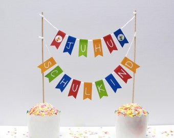 Cake garland schoolchild 2021 – Crayon School enrolment Start of school Cake garland Pennant garland Cake decoration 1st day of school