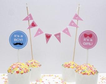 "Cake garland ""Its a Boy/Girl"", personalized cake garland baby shower"