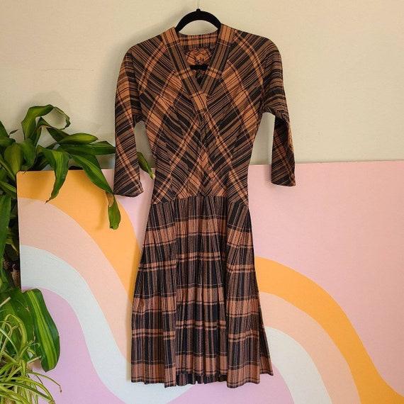 1940s, 1950s plaid Daytime Dress