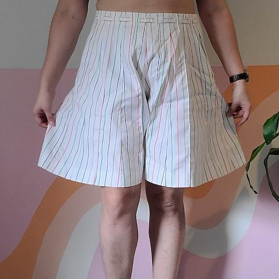 1970s Pinstripe Rainbow Shorts