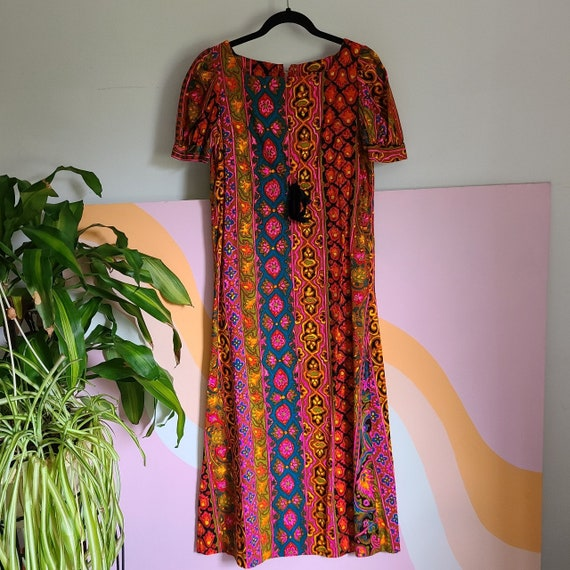 1960s Psychedelic Maxi Dress