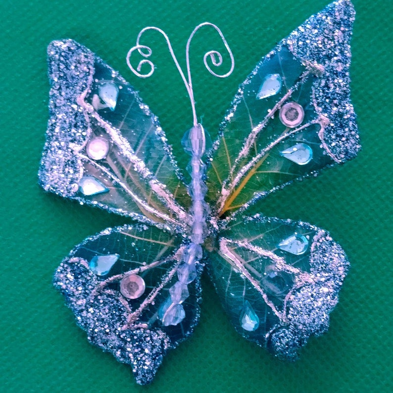 iridescent fabric Artisan Made Hat Lapel Pin Whimsical butterfly pin Large Butterfly Pin unique Butterfly Brooch glitter and wire