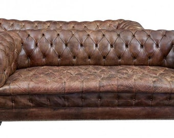 Incredible Chesterfield Sofa Etsy Onthecornerstone Fun Painted Chair Ideas Images Onthecornerstoneorg