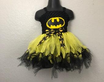 Batman Tutu Dress/ Halloween Costume/ Birthday/ Batman Girls/ Bat Girl & Girls batman costume | Etsy