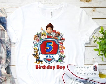 Paw Patrol Birthday Shirts For Family Mom Dad Sister Brother Custom Personalized T Kids And Adults K5