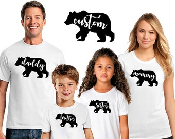 Christmas family pajamas matching shirts bear set custom mama bear papa  bear holiday bear buffalo pajamas pjs custom personalized Cr28 9659a0202
