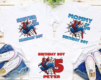 Spiderman Birthday Shirt Family Superhero Custom T Personalized Spider Man For Kids And Adults Gift K10