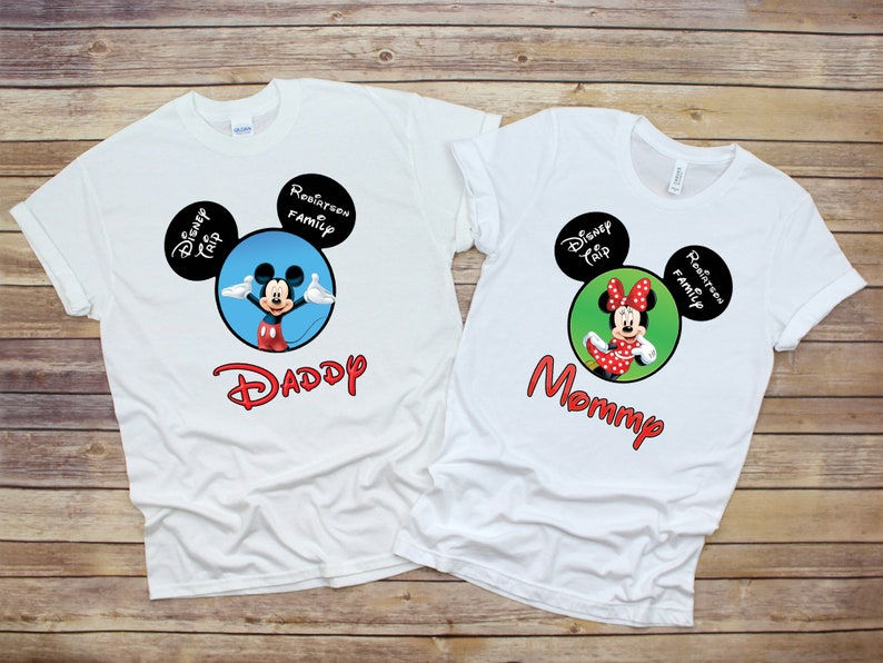 Custom Disney Family Birthday Shirt