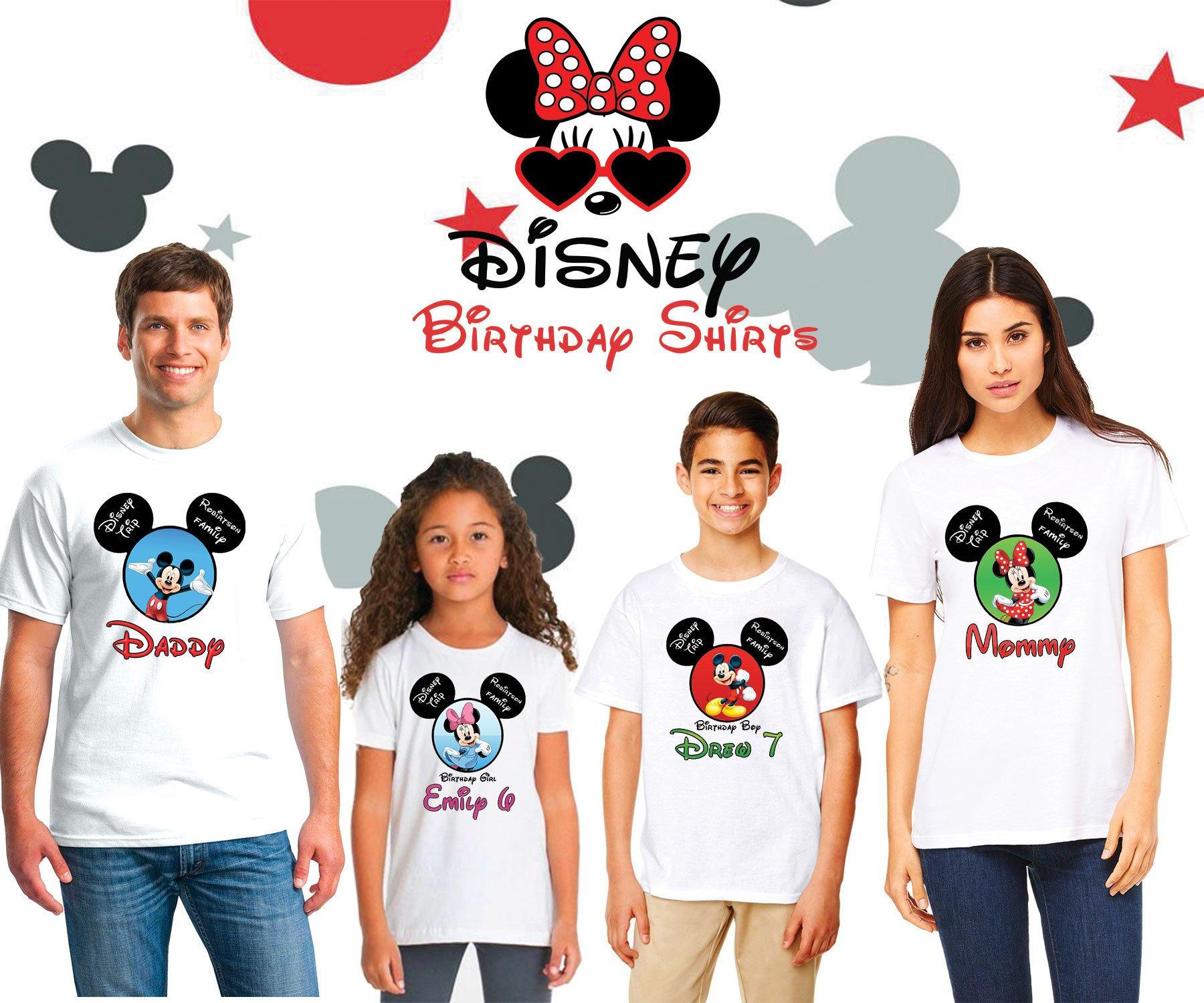 6626e9a51347 Disney Birthday Shirts Disney Family Birthday Shirt Disney | Etsy
