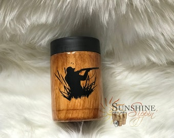 wood grain hunter can cooler hunter can cooler hunter gifts wood grain tumblers duck hunting gifts hunting gifts hunting lover cup