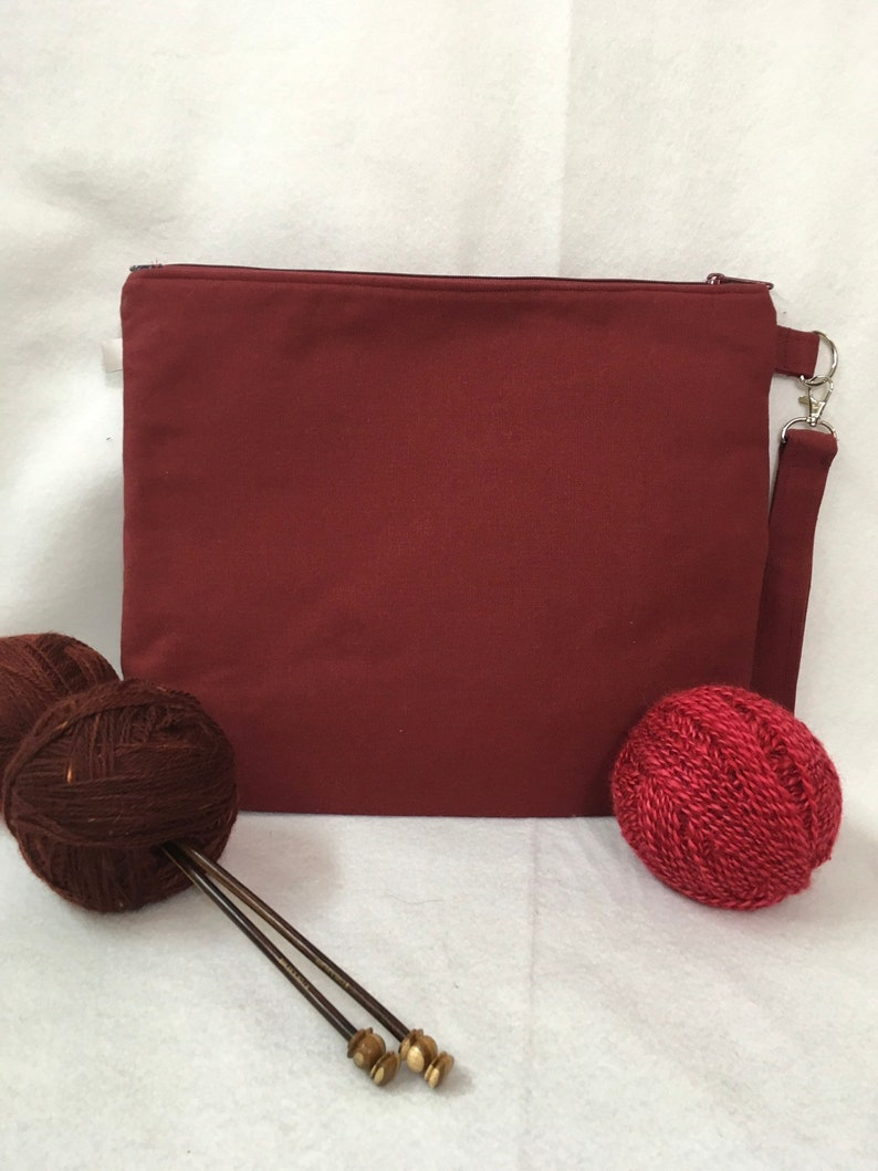 Perhaps this is the moment pieced front knitting project bag