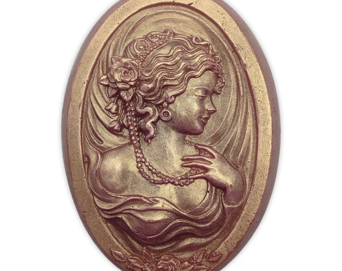 Featured listing image: Artisan Victorian Cameo Handmade Soap  made with Aloe For Clear and Smooth Skin