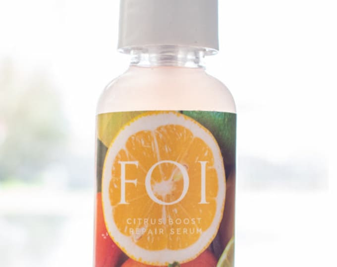Featured listing image: Vegan Citrus Boost Repair Serum With AHA   Alpha Hydroxy Acid to Exfoliate Skin and Reduce Wrinkles