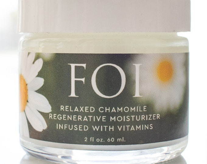 Featured listing image: Vegan Relaxed Chamomile Regenerative Moisturizer Infused With   Vitamins For Soft Skin