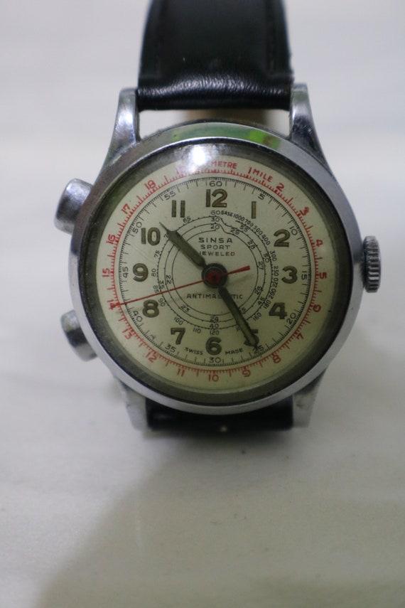Sinsa Sport Jeweled stopwatch