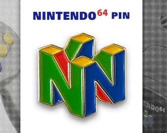 Nintendo 64 Retro Video Games Logo Pin— N64 90s gaming soft enamel pin