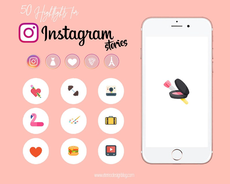 Instagram story highlight  50 Funny icons design image 0