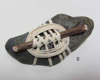 Wrapped Rock Paperweight, wheel &stick, Zen Stone, Meditation Rock, Seashore Display
