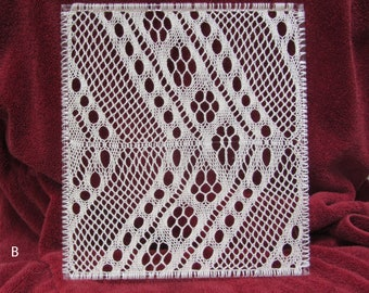 Sprang lace suncatcher, window decoration