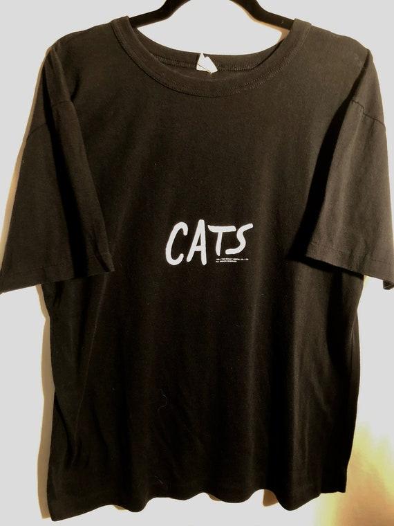 Vintage CATS single stitch Broadway 80's 1981 XL t