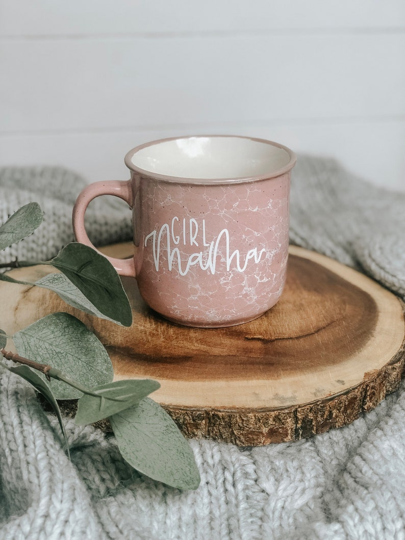 63b63f10ca6 Girl Mama Mug Mama Mug Campfire Mug Pink Marble | Etsy