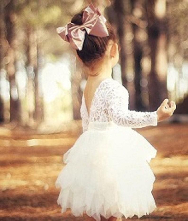 Harlow Long Sleeve Flower Girl Dress