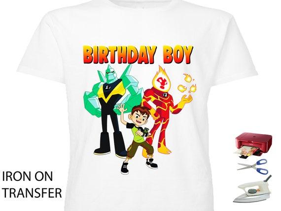 Ben 10 Birthday Shirt Iron On Transfer