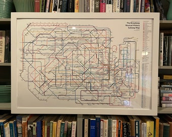 The Broadway Musical History Subway Map: 2020 Update!