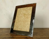 Large French Mirrored Picture Frame, Vintage Beveled Mirror Photo Frame, Shabby Chic Interior, 1930s Glass Picture Frame, Paris Hotel Decor