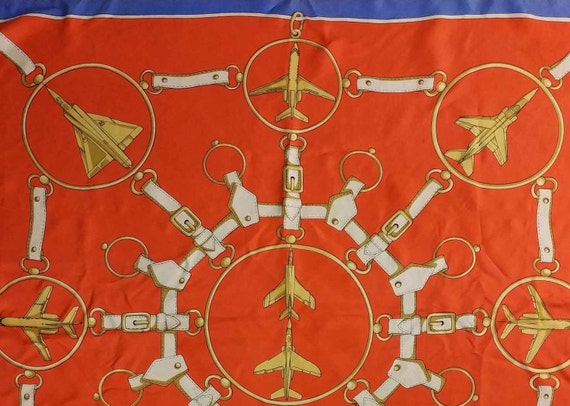 Vintage French Scarf, 1980s Silk Scarf, Vintage A… - image 9