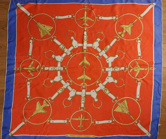 Vintage French Scarf, 1980s Silk Scarf, Vintage A… - image 2