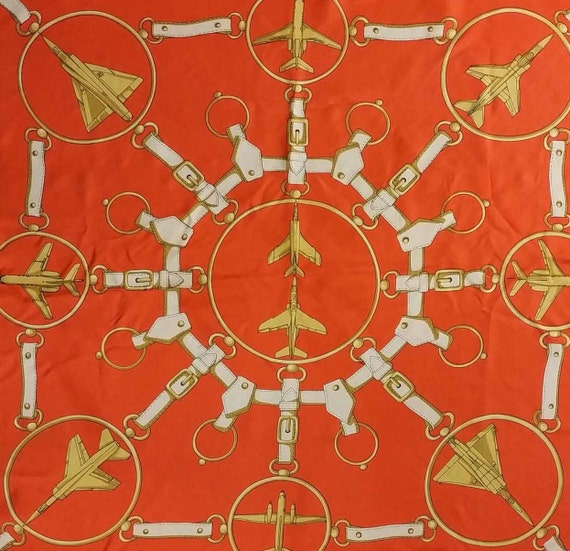 Vintage French Scarf, 1980s Silk Scarf, Vintage A… - image 4